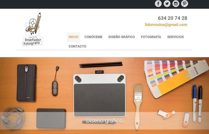 lidonmuina.com Diseño gráfico y fotografía